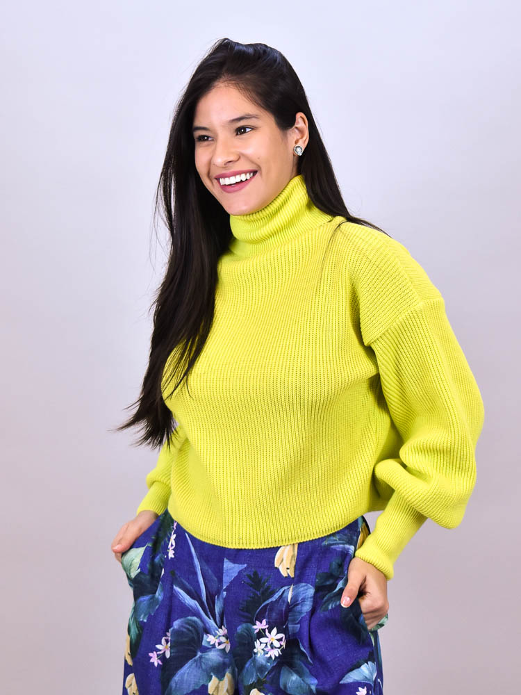 Cropped Tricot Gola Lima