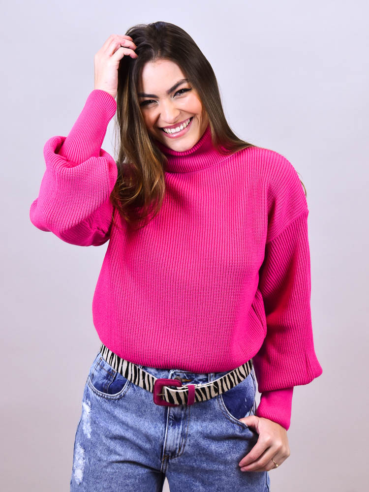 Cropped Tricot Gola Pink