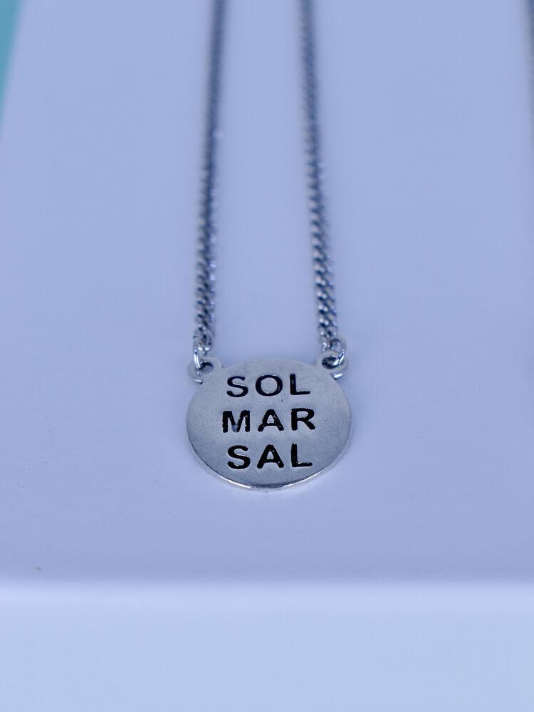 Escapulário Sol Mar 60cm  - Carmelina.com.br