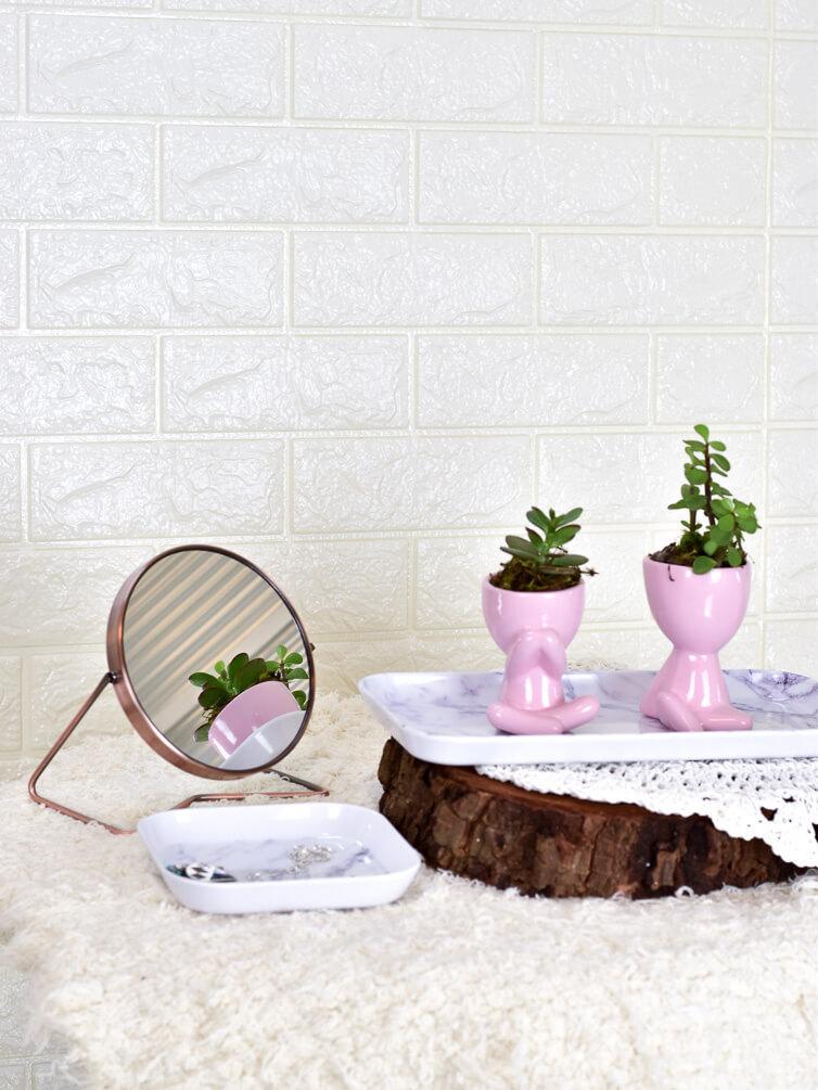 Espelho Mesa Redondo  - Carmelina.com.br