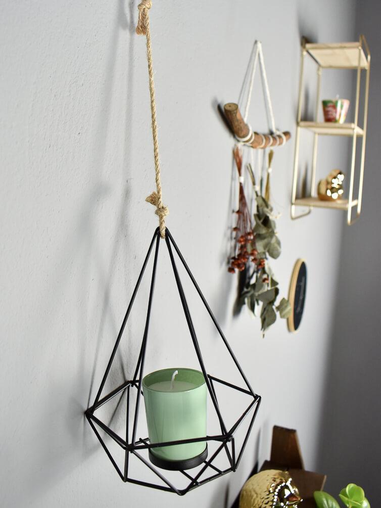 Hanger Lanterna Diamante Preta