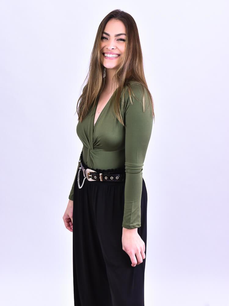 Pantalona Helena Preto   - Carmelina.com.br