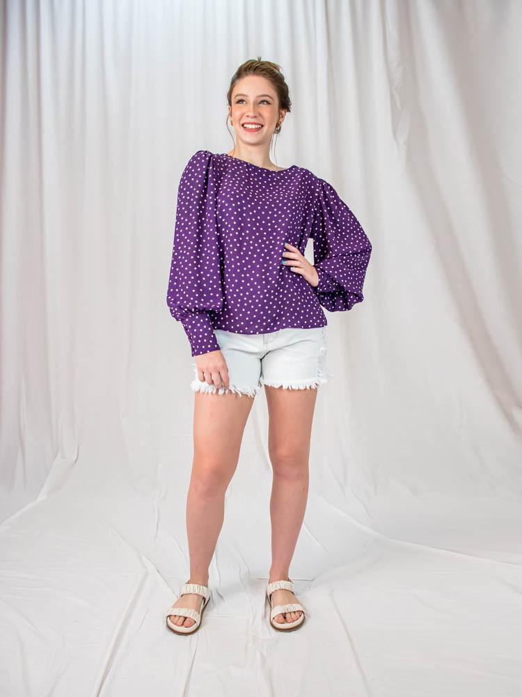 Short Hot Pant Barra Desfiada  - Carmelina.com.br