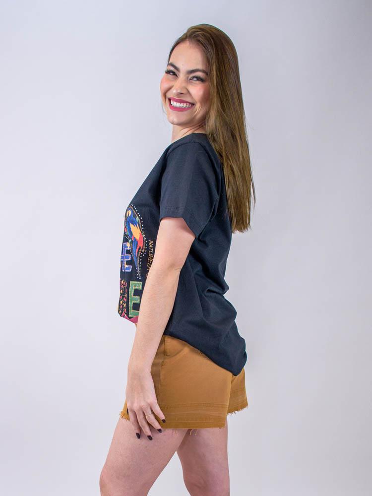 Short Jeans Caramelo