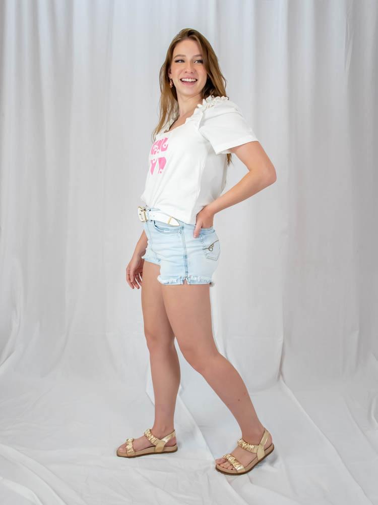 Short Mom Jeans  - Carmelina.com.br