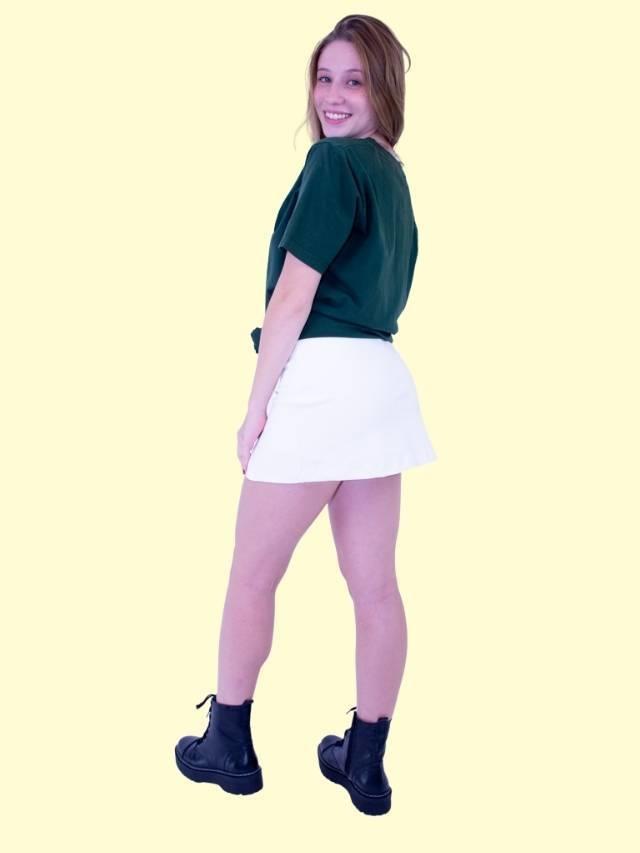 Short Saia Fenda Off  - Carmelina.com.br