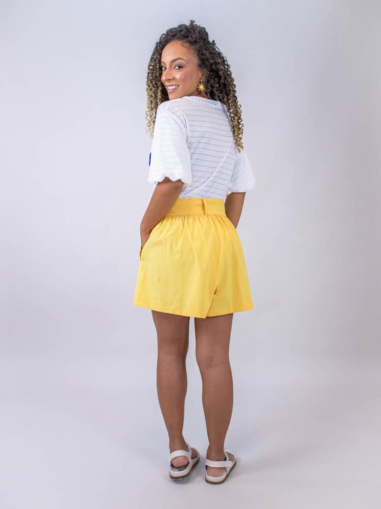 Short Tricoline  - Carmelina.com.br