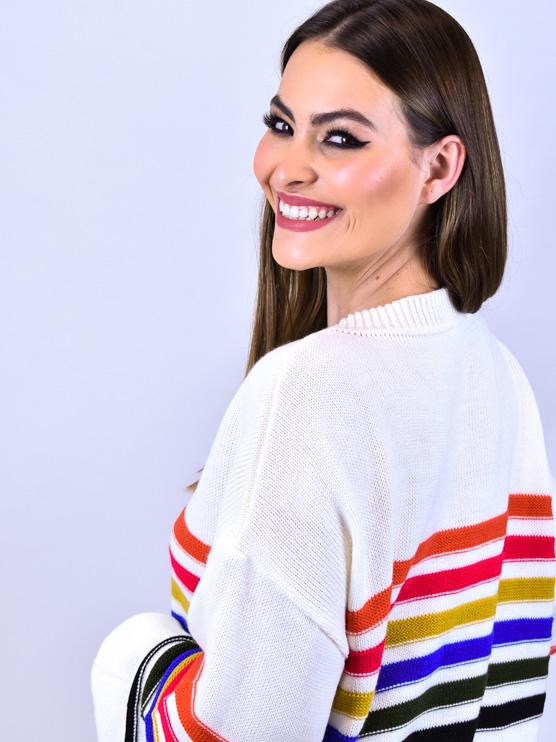 Tricot Arco Iris   - Carmelina.com.br