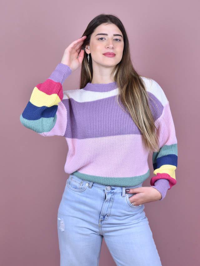 Tricot Colors Lavanda  - Carmelina.com.br