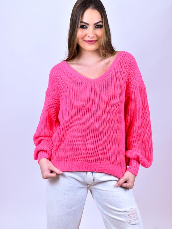 Tricot Fang Rosa  - Carmelina.com.br