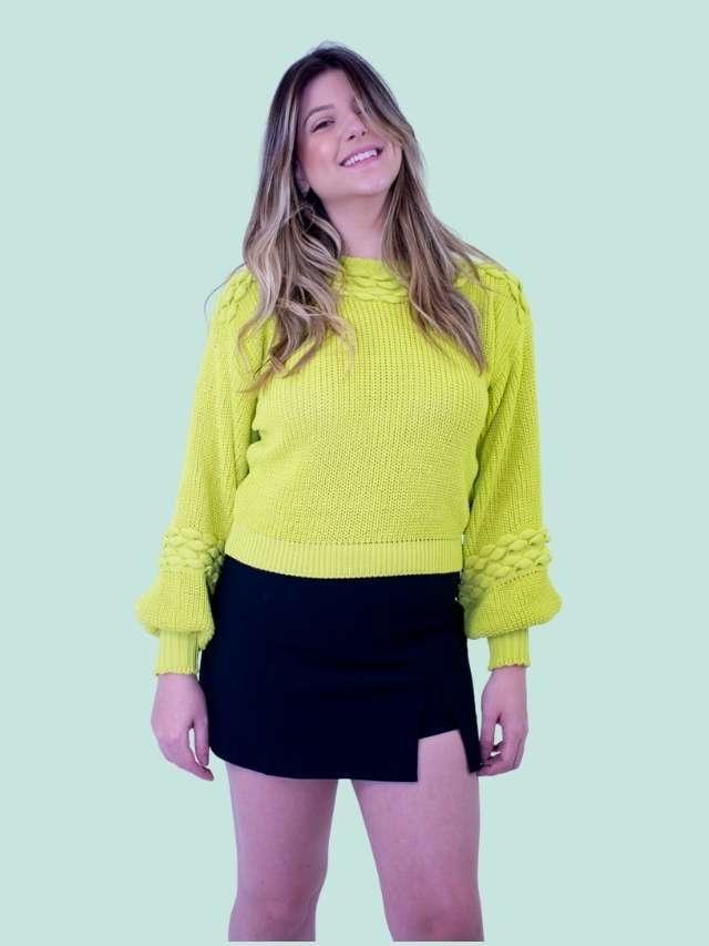 Tricot Textura Lima  - Carmelina.com.br