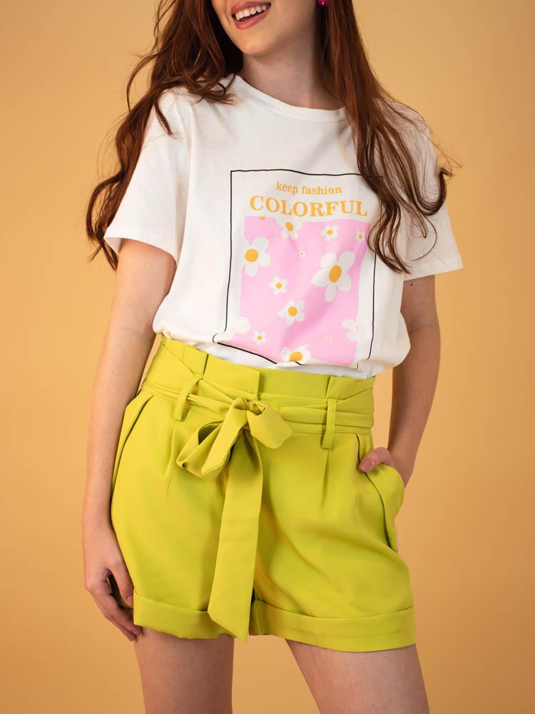 Tshirt Colorful  - Carmelina.com.br