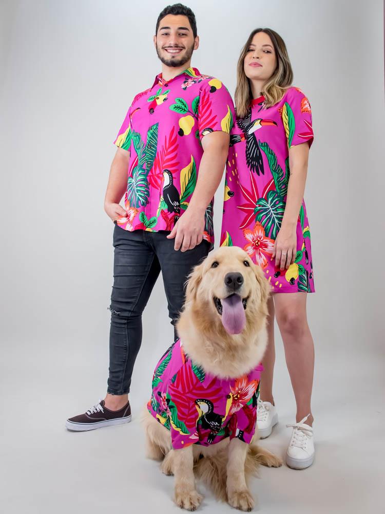 Tshirt Dress Vivi Tucano Pink  - Carmelina.com.br