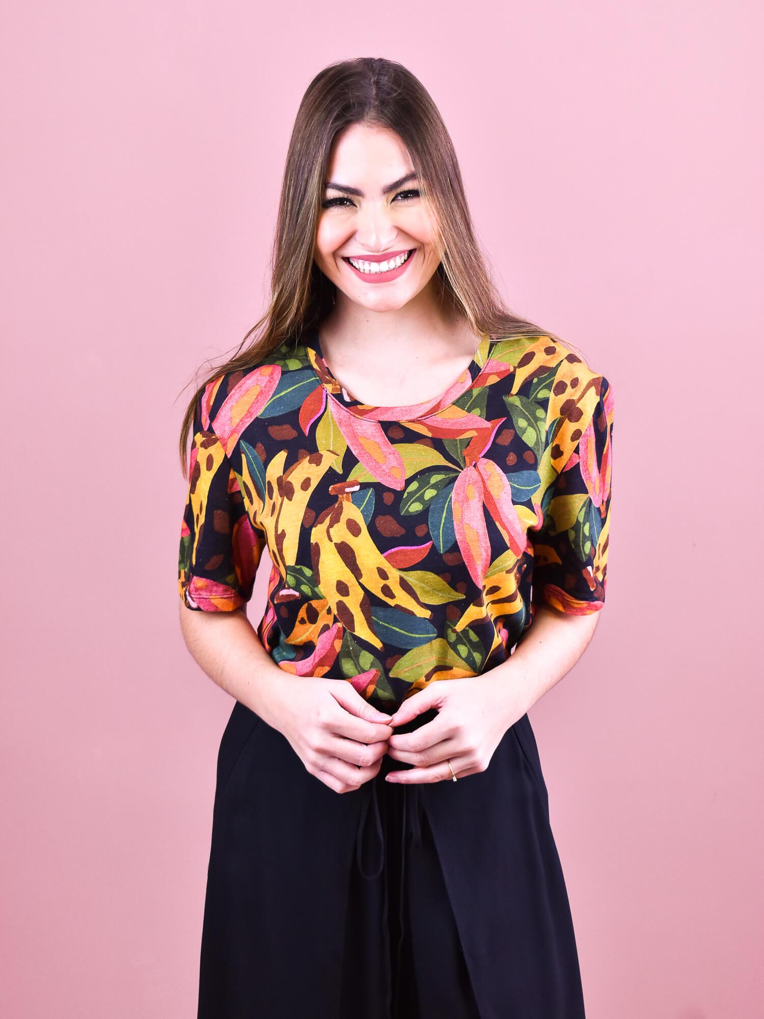 Tshirt Farm Banana Pintada  - Carmelina.com.br