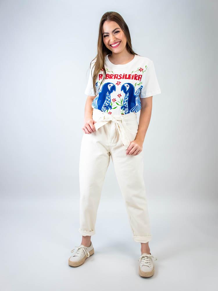 Tshirt Farm Fit Silk A Brasileira  - Carmelina.com.br
