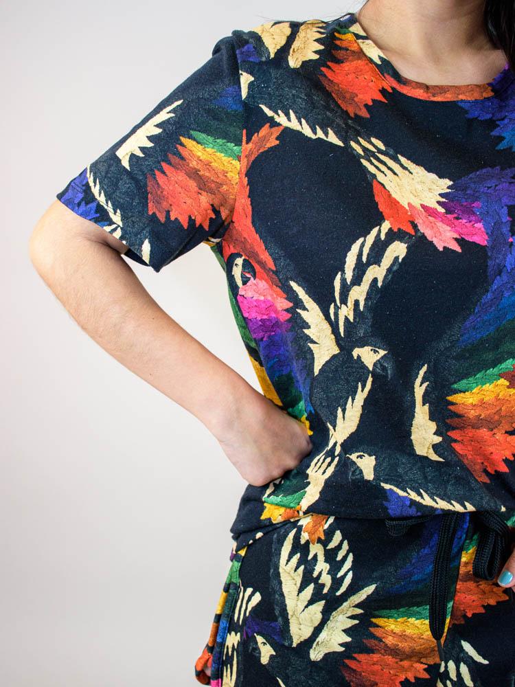 Tshirt Farm Mix Voo Colorido  - Carmelina.com.br