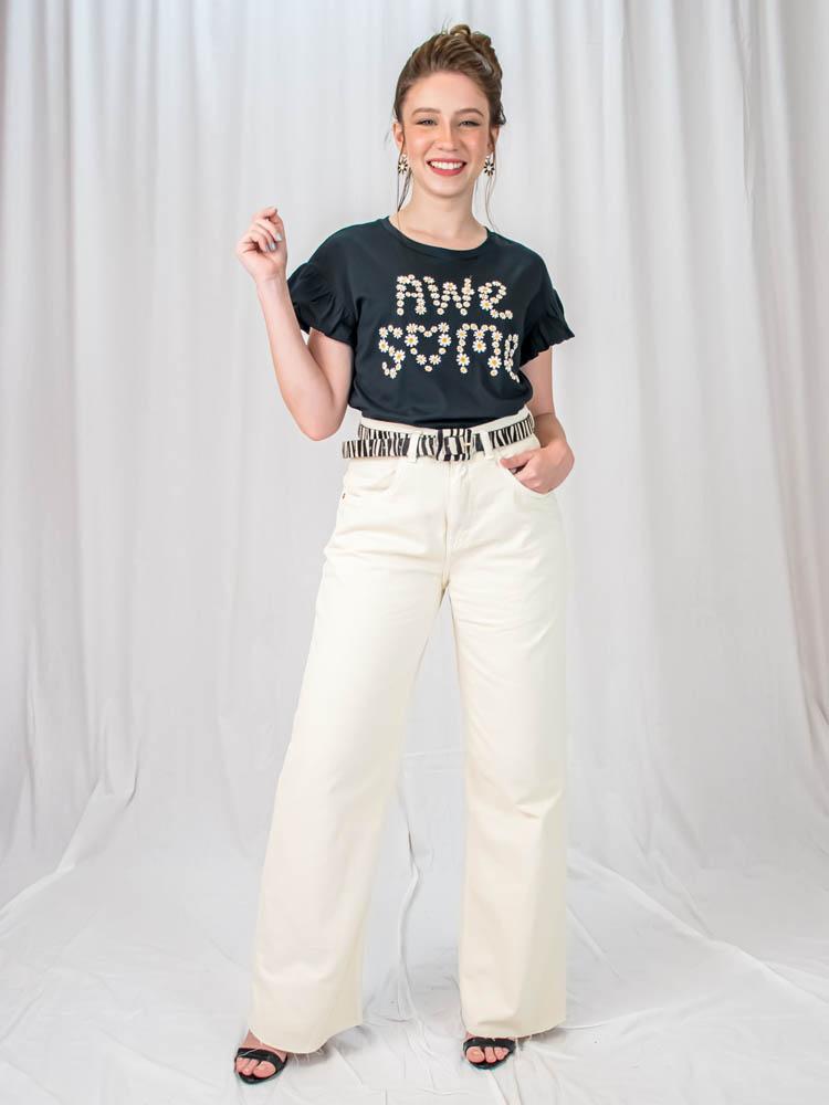 Tshirt Margarida Awesome Preta