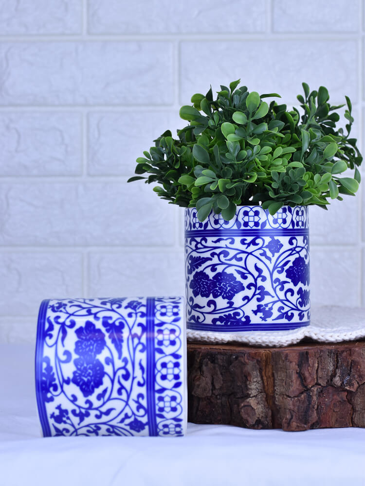 Vaso Azulejo Mini Afelandra  - Carmelina.com.br