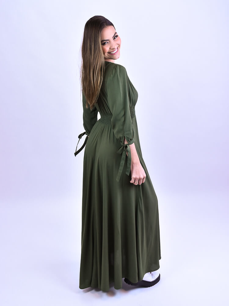 Vestido Alice Militar  - Carmelina.com.br