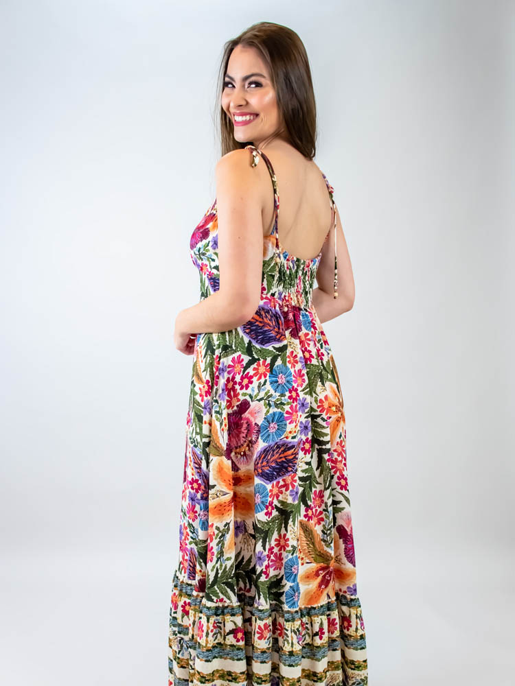 Vestido Cropped Farm Bordadeira  - Carmelina.com.br
