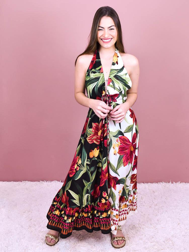 Vestido Cropped Farm Floral Padang