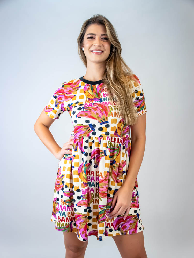 Vestido Curto Farm Bananatic  - Carmelina.com.br