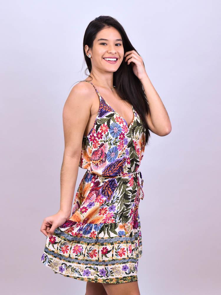 Vestido Curto Farm Bordadeira  - Carmelina.com.br