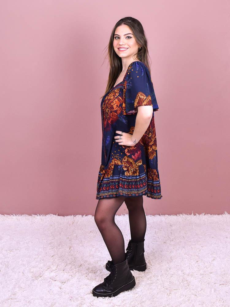 Vestido Curto Farm Brilhantina   - Carmelina.com.br