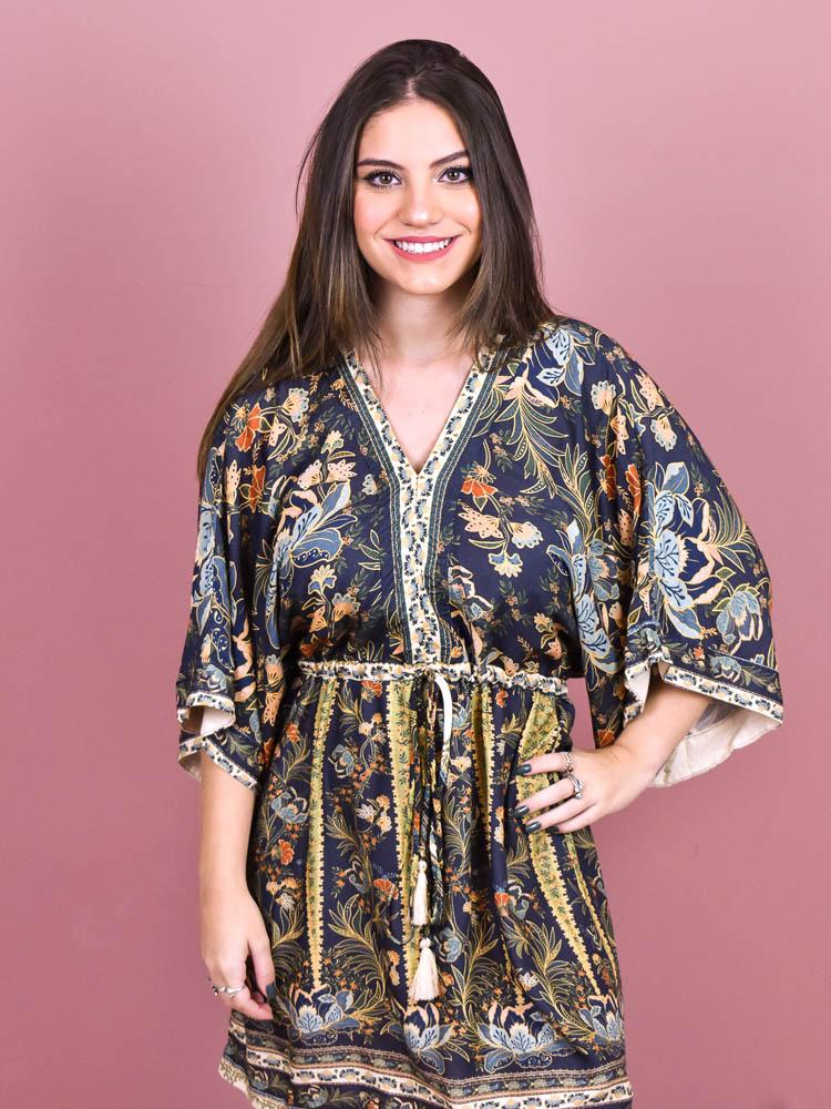 Vestido Curto Farm Romance de Inverno   - Carmelina.com.br