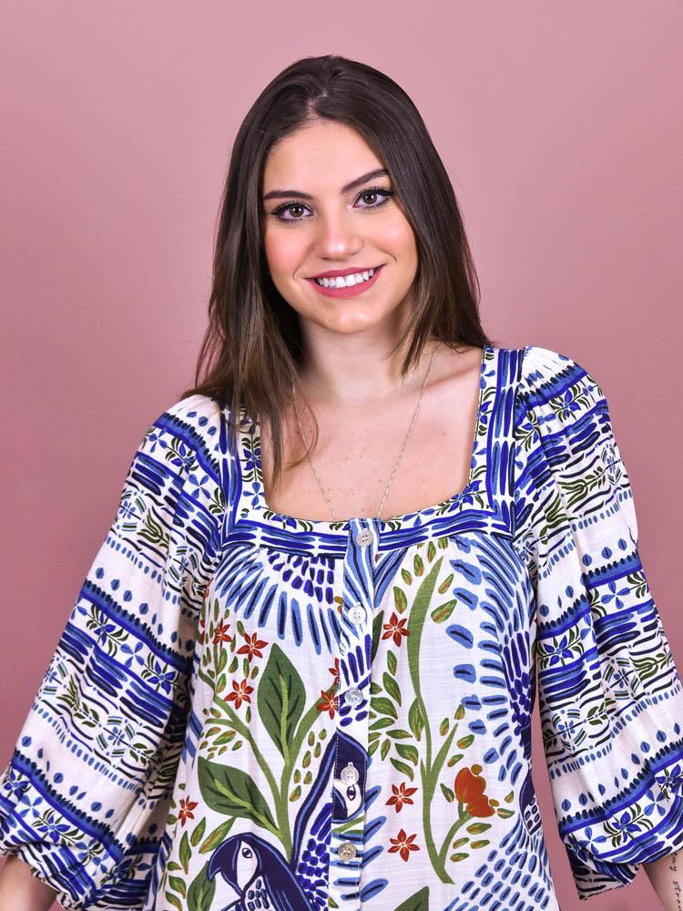 Vestido Curto Farm Voo de Verão   - Carmelina.com.br