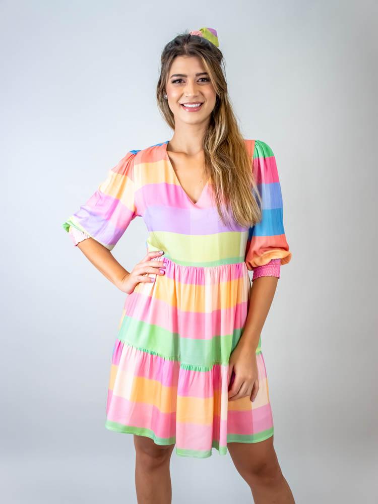 Vestido Curto Xadrez Color