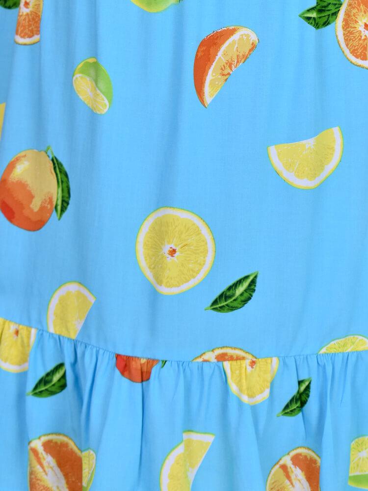 Vestido Duda Limões Azul