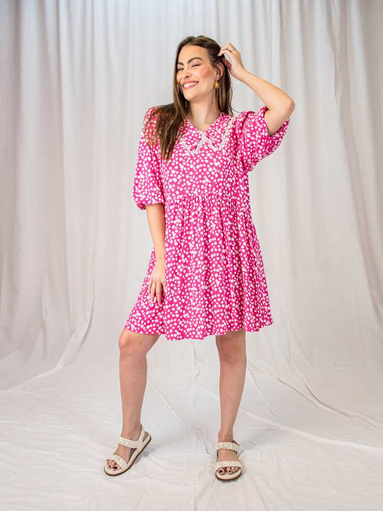 Vestido Liberty Gola Pink