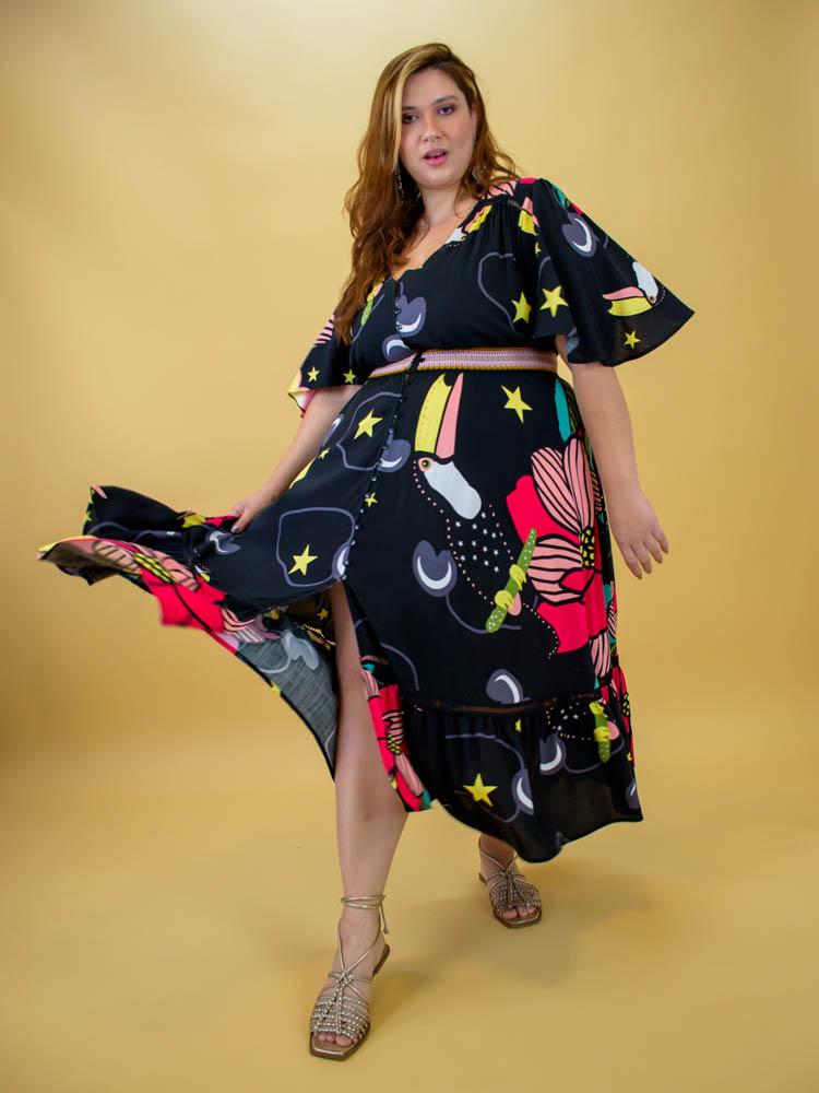 Vestido Midi Tucano Místico - Marie