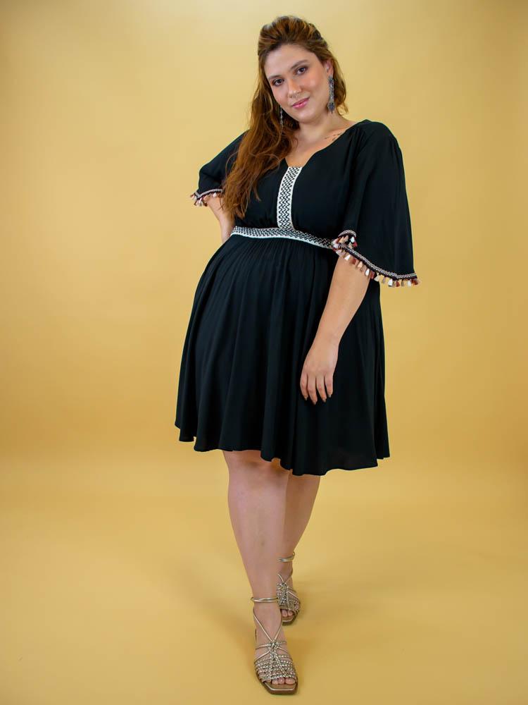 Vestido Preto Étnico - Anahi
