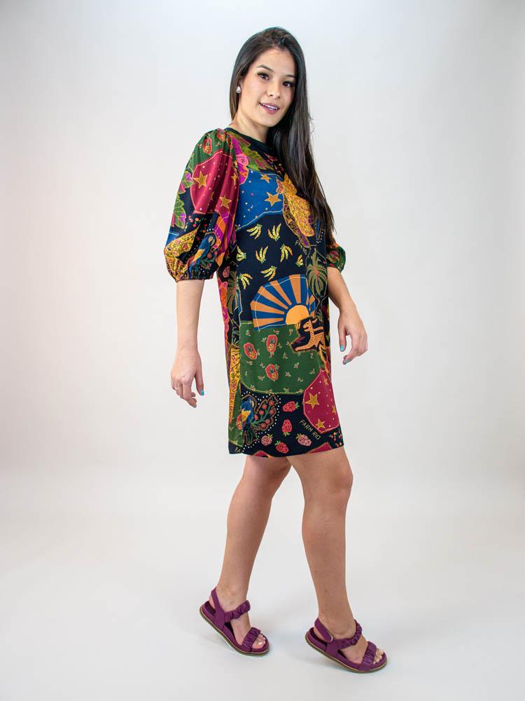 Vestido Tshirt Farm Beleza Mix  - Carmelina.com.br