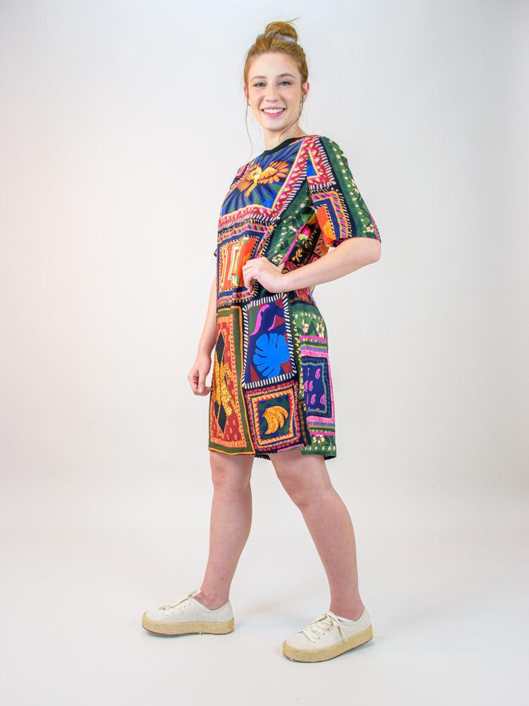 Vestido Tshirt Farm Tapeçaria Patch