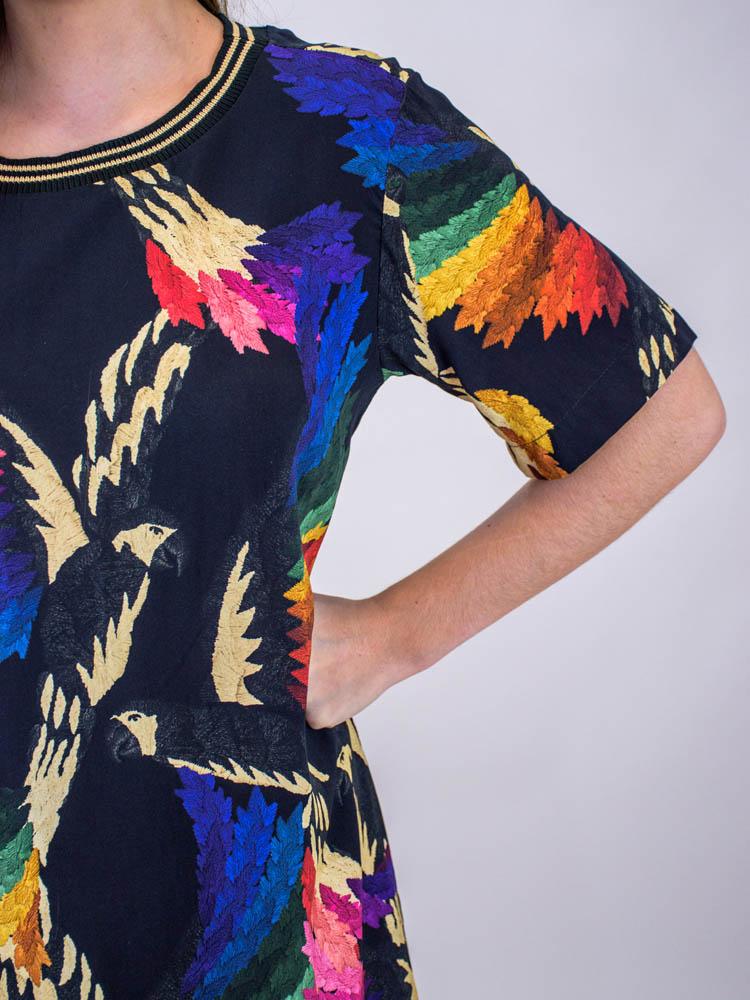 Vestido Tshirt Farm Voo Colorido  - Carmelina.com.br