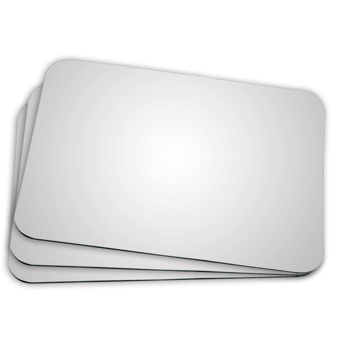 Mouse Pad Branco em Neoprene Para Sublimação Retangular 24 X 19  - ALFANETI COMERCIO DE MIDIAS E SUBLIMAÇÃO LTDA-ME