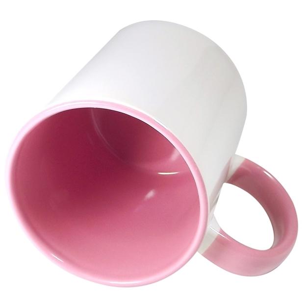 Caneca Alça e Interior Rosa Resinada Para Sublimação em Cerâmica  - ALFANETI COMERCIO DE MIDIAS E SUBLIMAÇÃO LTDA-ME