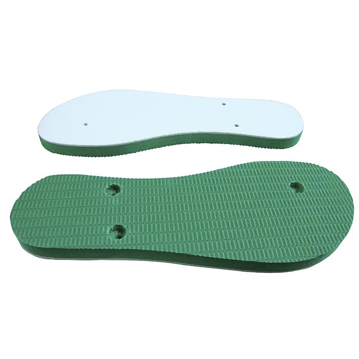 Chinelo e Tiras Verde Com Tecido Branco Para Sublimação  - ALFANETI COMERCIO DE MIDIAS E SUBLIMAÇÃO LTDA-ME