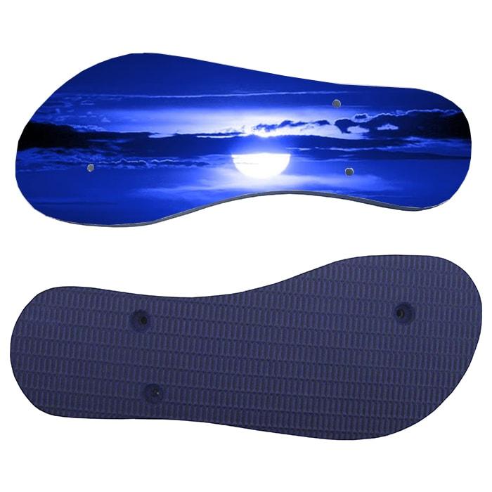 Chinelo e Tiras Azul Escuro Com Tecido Branco Para Sublimação  - ALFANETI COMERCIO DE MIDIAS E SUBLIMAÇÃO LTDA-ME