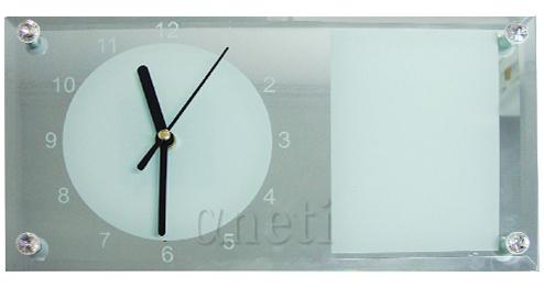 Relógio Para Sublimação Espelhado 30x16cm  - ALFANETI COMERCIO DE MIDIAS E SUBLIMAÇÃO LTDA-ME