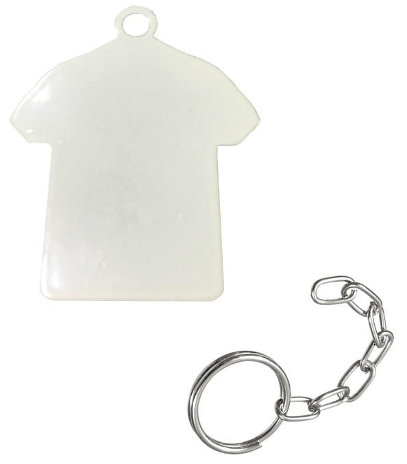 Chaveiro sublimático Branco (Camiseta)  - ALFANETI COMERCIO DE MIDIAS E SUBLIMAÇÃO LTDA-ME
