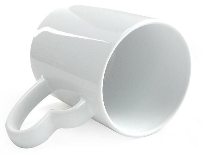 Caneca Branca Alça Coração Resinada Para Sublimação em Cerâmica  - ALFANETI COMERCIO DE MIDIAS E SUBLIMAÇÃO LTDA-ME