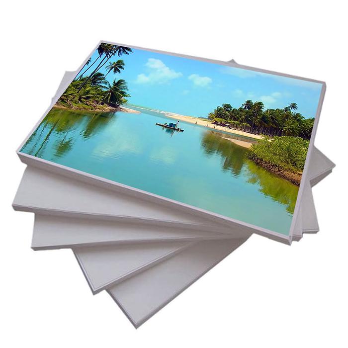 Papel Fotográfico Glossy ( Brilhante ) A4 135gr  - ALFANETI COMERCIO DE MIDIAS E SUBLIMAÇÃO LTDA-ME