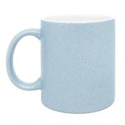 Caneca para Sublimação de Cerâmica Glitter Azul - Classe A