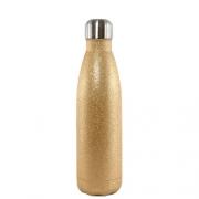 Garrafa Térmica Glitter Parede Dupla Dourada (bbb) para Sublimação 500ml