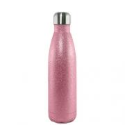 Garrafa Térmica Glitter Parede Dupla Rosa (bbb) para Sublimação 500ml