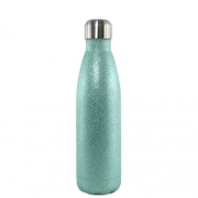 Garrafa Térmica Glitter Parede Dupla Tiffany (bbb) para Sublimação 500ml